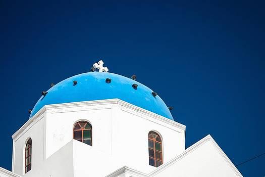 Church in Imerovigli Santorini by Bjoern Kindler
