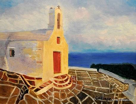 Church in Ios Greece by Calliope Thomas