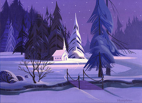 Church In Snow by Michael Humphries