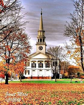 Church in the fall by Janet Moss