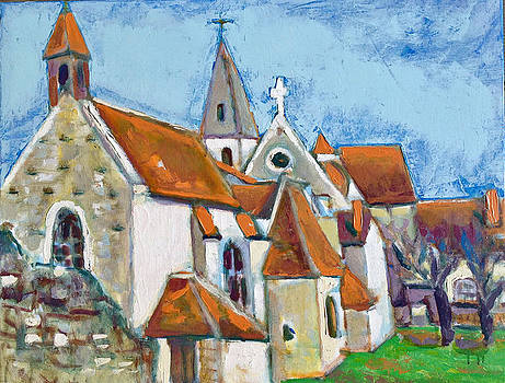 Church Near Paris France by Chevassus-agnes Jean-pierre