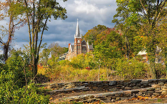 Church on a Hill by John M Bailey