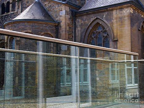 Nick  Biemans - Church seen through a transperant screen