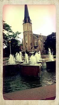 Church with Water Feature by Ted Mahy