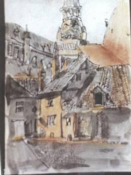 Church Yard by Thomas Armstrong
