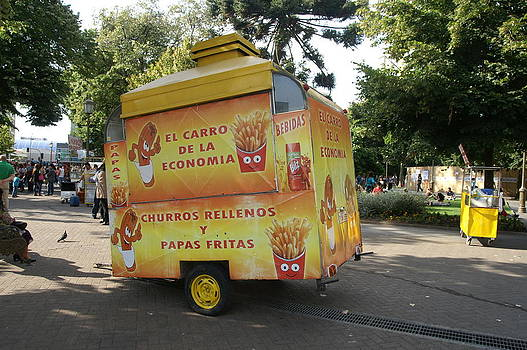 Churros Rellenos For Sale In The Plaza by Thomas D McManus