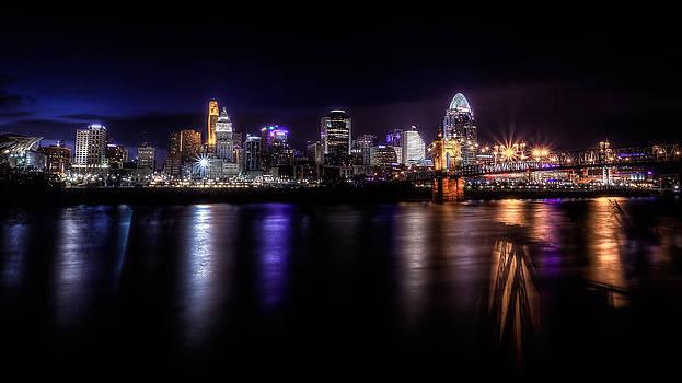 Cincinnati after Sunset by Keith Allen