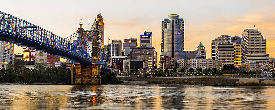 Cincinnati at Sunset from the River by At Lands End Photography