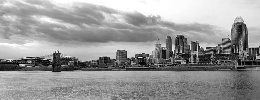 Randall Branham - Cincinnati black n white from the water