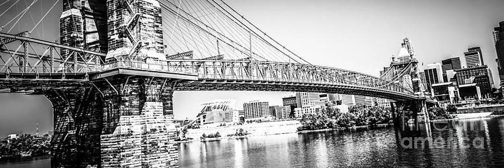 Paul Velgos - Cincinnati Bridge Retro Panorama Photo