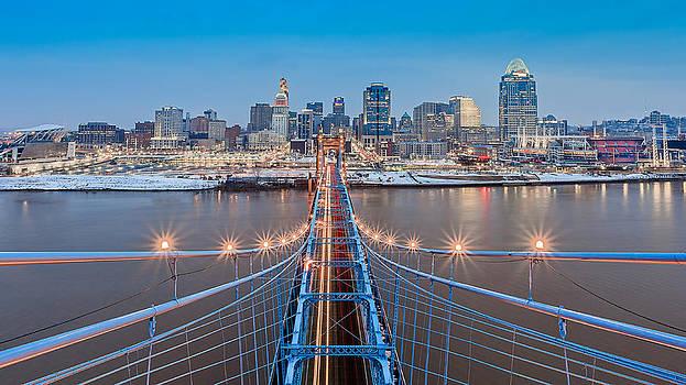 Cincinnati from on top of the bridge by Keith Allen
