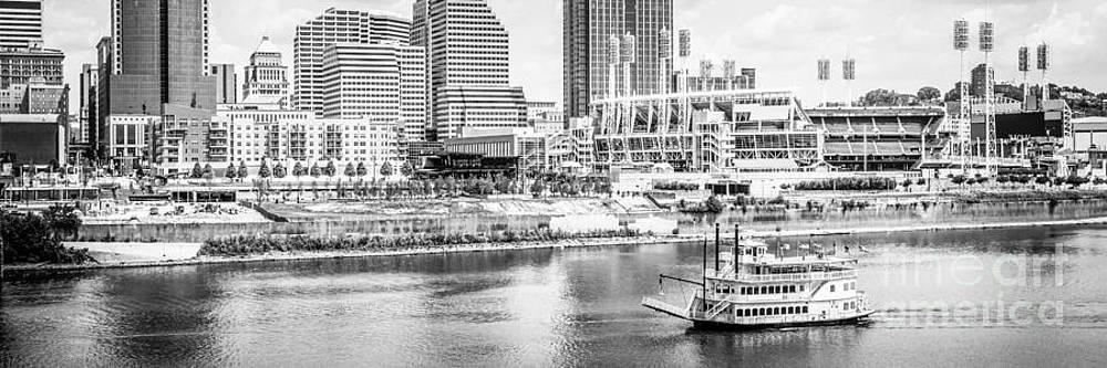 Paul Velgos - Cincinnati Panoramic Picture in Black and White