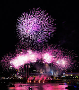 Cincinnati Reds Fireworks Friday by Craig Bowman