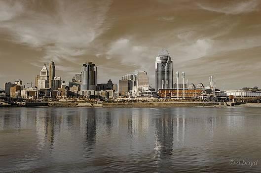 Cincinnati Riverfront by Diana Boyd