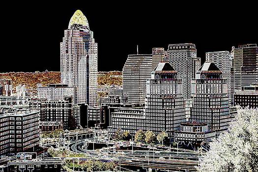 Cincinnati Skyline by Kim Lentz
