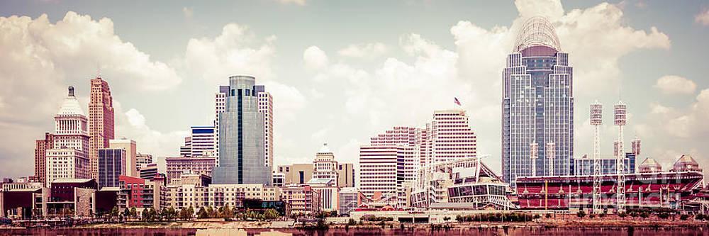 Paul Velgos - Cincinnati Skyline Panorama Vintage Photo