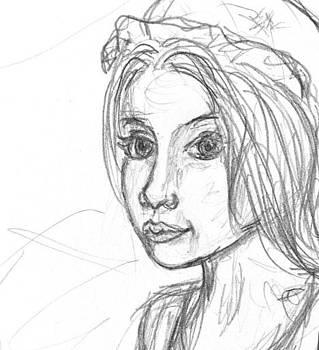Sandy Tolman - Cinderella Sketch Detail One