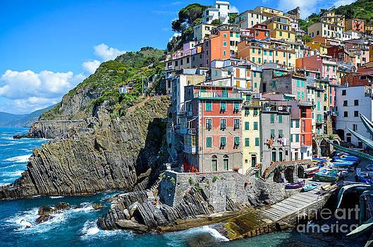 Cinque Terre Village No 1 by Amy Fearn