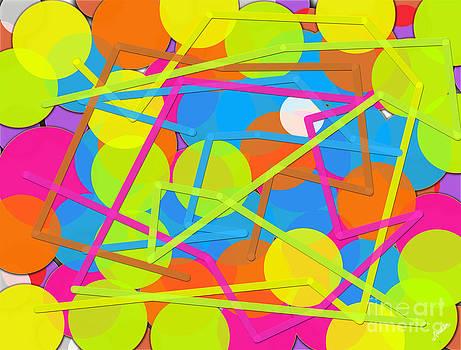 Circle and Lines by Artist Nandika  Dutt