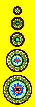 Circle Motif 239 by John F Metcalf