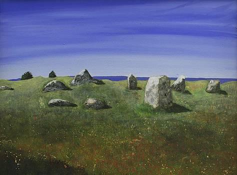 Ancient Circle of Stones  by Victoria Stavish