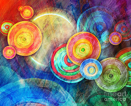 Circle Shape Art in Sun Landscape by Angela Waye
