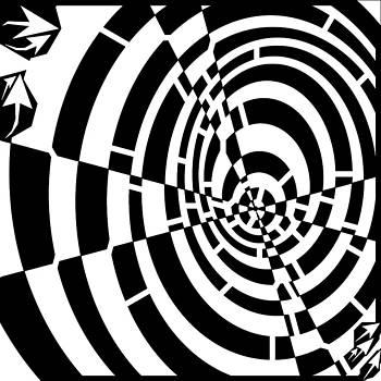 Circles Twist Maze  by Yonatan Frimer Maze Artist