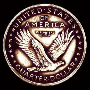 Circulated Standing Liberty  Reverse by Fred Larucci
