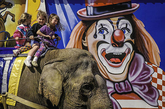 Circus elephant ride. by Brian R Tolbert