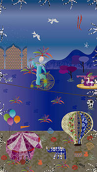 Circus juggler by Gabriela Delgado