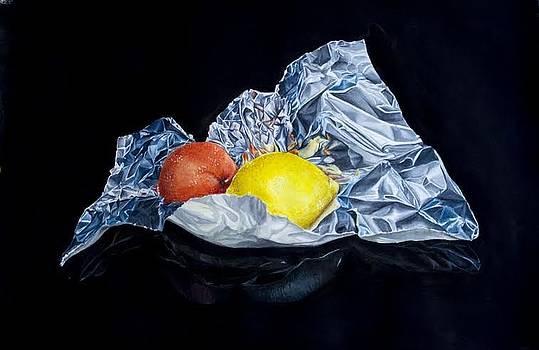 Citrus In Foil by Ida Yavari