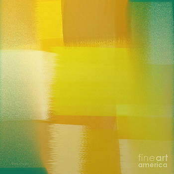 Citrus Motion Abstract Square by Andee Design