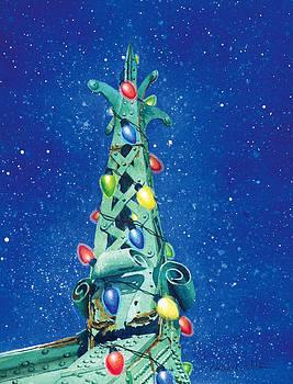 City Island Bridge Christmas Tree by Marguerite Chadwick-Juner