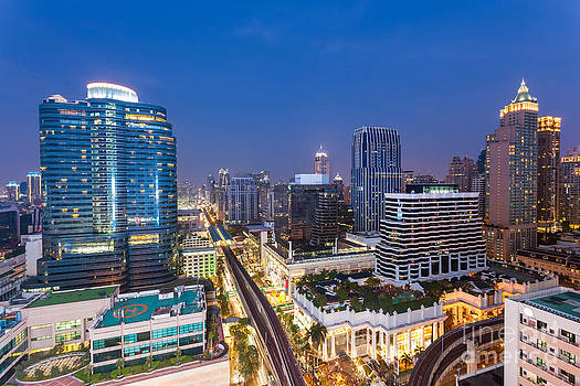 Fototrav Print - CIty Night Skyline Bangkok