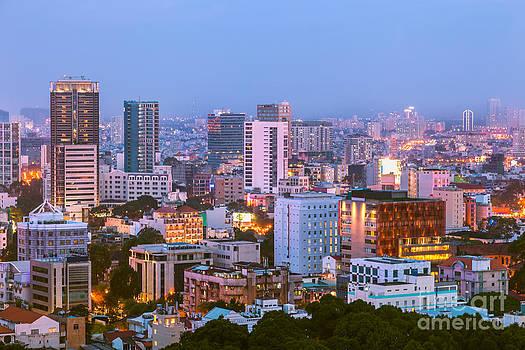 Fototrav Print - City Night Skyline  Saigon