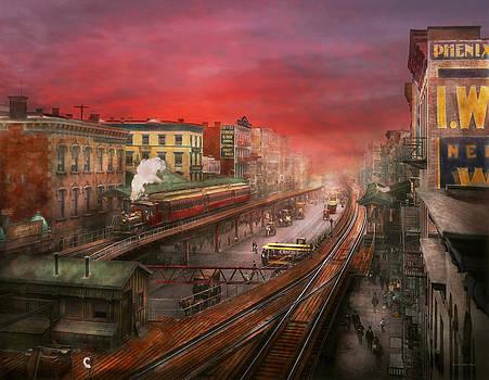 Mike Savad - City - NY - Rush hour traffic - 1900