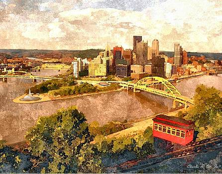 City of Pittsburgh Golden Triangle by Charles Ott