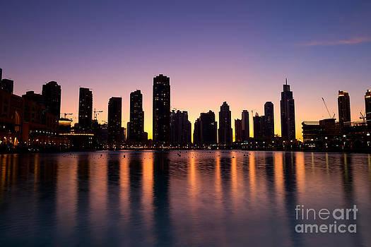 Fototrav Print - City Skyline Dubai at Dusk
