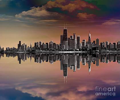 Bedros Awak - City Skyline Dusk