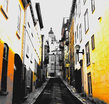 Laura Carter - City Street Scene Black and Yellow Photograph