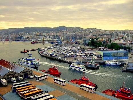Civitavecchia Harbour by Bill Lighterness