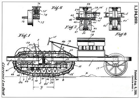 Science Source - Cl Best Crawler Patent 1916