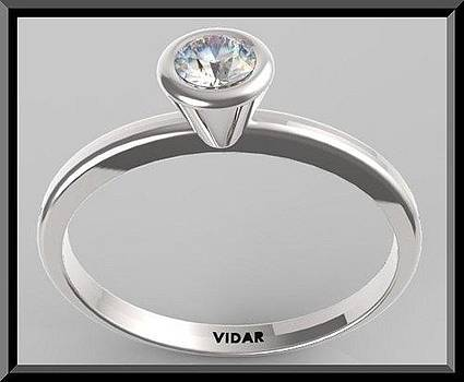 Classic And Elegant Diamond 14k White Gold Engagement Ring  by Roi Avidar