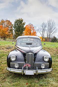 Edward Fielding - Classic Car in Autumn Farm Field