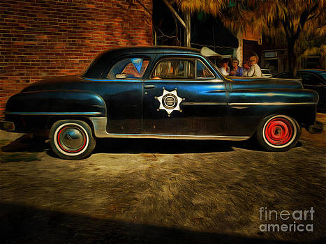 Classic Police Car by Claire Bull