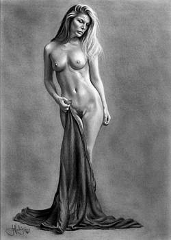 Classical Nude drawing by John Harding