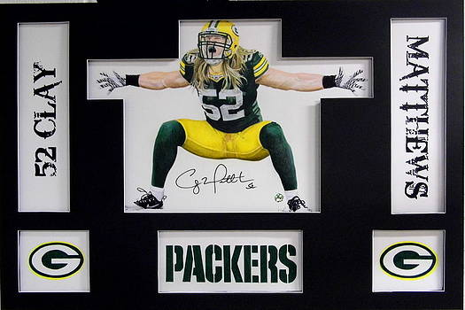 Clay Matthews-Autographed by Dan Troyer