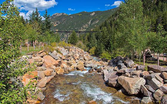 Clear Creek in Georgetown Colorado by John M Bailey