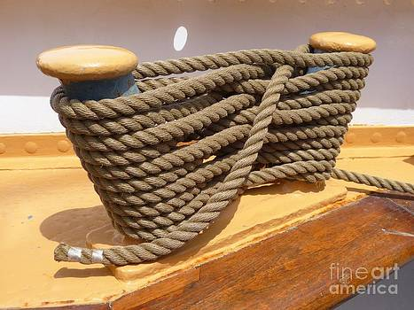 Christine Stack - Cleats and Line on US Coast Guard Cutter Eagle in Portland Maine