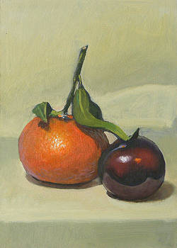 Clementine and plum by Peter Orrock